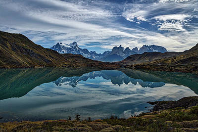 Photograph - Patagonia Lake Reflection - Chile by Stuart Litoff