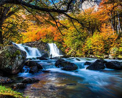 Photograph - Patagonia Waterfall by Walt Sterneman