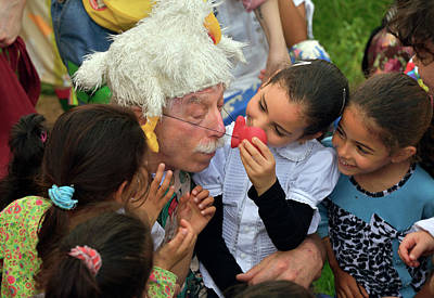 Photograph - Patch And Kids by Patch Adams