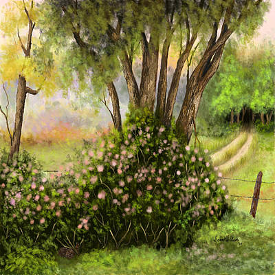 Art Print featuring the painting Patches Of Beauty by Sena Wilson