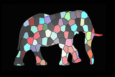 Digital Art - Patches The Elephant  by Ernie Echols