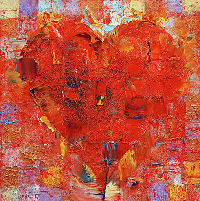 Amor Painting - Patchwork Heart by Michael Creese