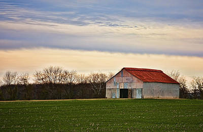 Photograph - Patchwork Metal-siding Barn With Rusted Roof by Greg Jackson