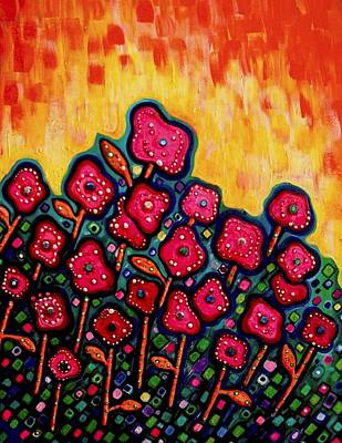 Painting - Patchwork Poppies by Brenda Higginson