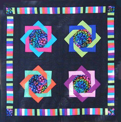 Eva Markos Tapestry - Textile - Patchwork Quilt 25 - Table Cover by Eva Sandor