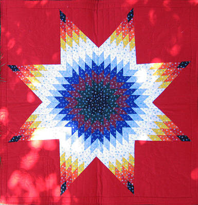 Eva Markos Tapestry - Textile - Patchwork Quilt 26 - Table Cover by Eva Sandor