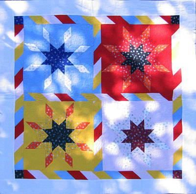 Eva Markos Tapestry - Textile - Patchwork Quilt 30 - Table Cover by Eva Sandor