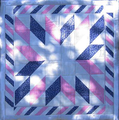 Eva Markos Tapestry - Textile - Patchwork Quilt 31 - Table Cover by Eva Sandor