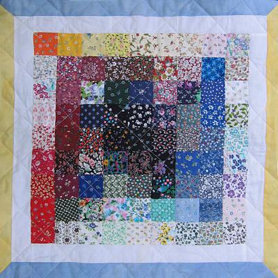 Eva Markos Tapestry - Textile - Patchwork Quilt 32 - Table Cover by Eva Sandor