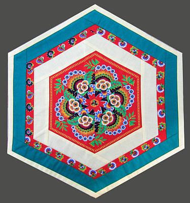 Eva Markos Tapestry - Textile - Patchwork Quilt 33 - Table Cover by Eva Sandor