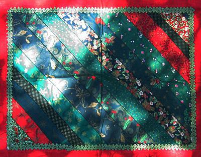 Eva Markos Tapestry - Textile - Patchwork Quilt 34 - Table Cover by Eva Sandor