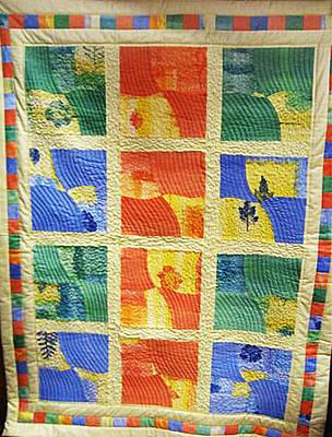 Eva Markos Tapestry - Textile - patchwork Quilt 36 by Eva Sandor
