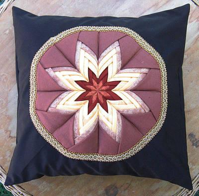 Eva Markos Tapestry - Textile - Patchwork Quilt 40 - Pillowcase by Eva Sandor