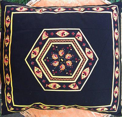 Eva Markos Tapestry - Textile - Patchwork Quilt 42 - Pillowcase by Eva Sandor