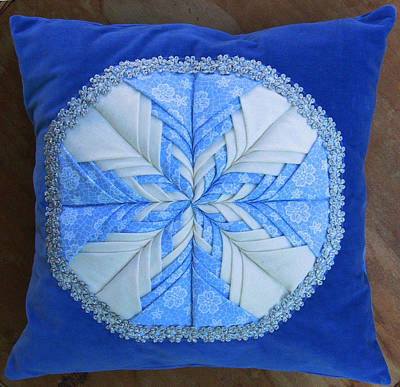 Eva Markos Tapestry - Textile - Patchwork Quilt 43 - Pillowcase by Eva Sandor