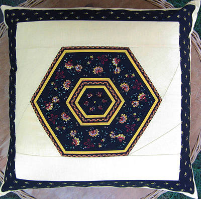 Eva Markos Tapestry - Textile - Patchwork Quilt 44 - Pillowcase by Eva Sandor