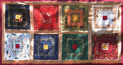 Eva Markos Tapestry - Textile - Patchwork Quilt 5 by Eva Sandor