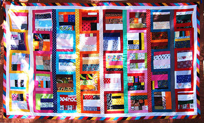 Eva Markos Tapestry - Textile - Patchwork Quilt 7 by Eva Sandor