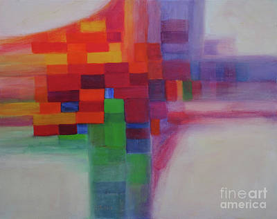 Painting - Patchwork Quilt by Carolyn Jarvis