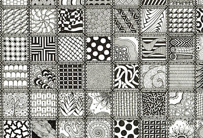 Patchwork Quilts Drawing - Patchwork Quilt by Jessica Mahan