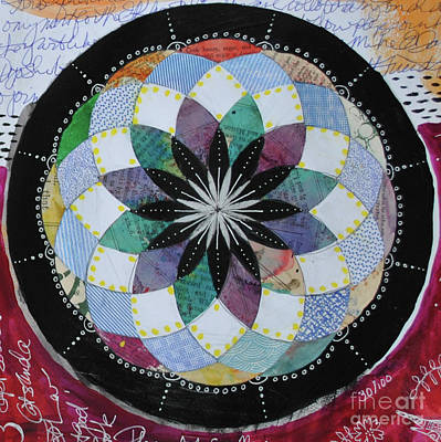 Mixed Media - Patchwork Torus Mandala by Jeanette Clawson