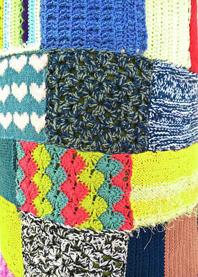 Tapestries Textiles Photograph - Patchwork Wool by Tom Gowanlock