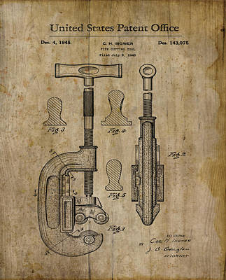 Patent Art Pipe Cutter 1945 Art Print