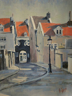 Painting - Paterspoortje Maastricht by Nop Briex