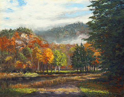 Path Along Thorne Pond Original by Elaine Farmer