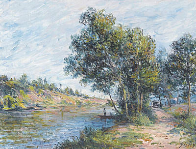 Veneux Painting - Path And Slopes Of The Same by Alfred Sisley