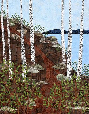 Mixed Media - Path By The Lake by Janyce Boynton