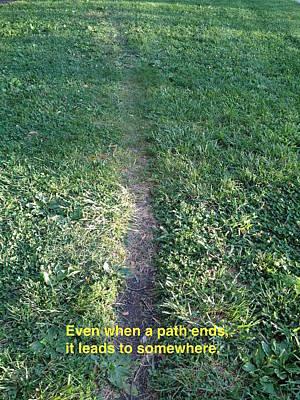 Path Ends / Dawn Art Print