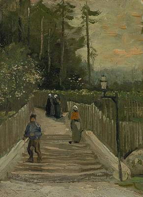 Painting - Path In Montmartre Paris  April - May 1886 Vincent Van Gogh 1853  1890 by Artistic Panda