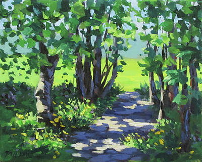 Painting - Path In The Park II by Karen Ilari