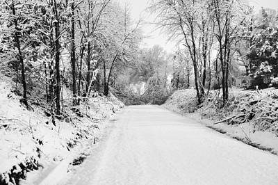 Path In The Snow Art Print by Michelle Shockley