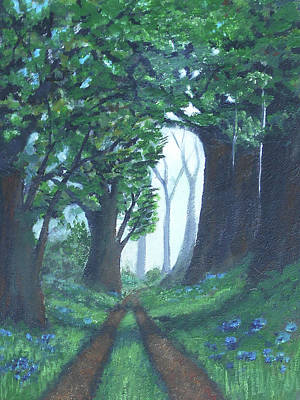 Mixed Media - Path In The Woods by Angela Stout