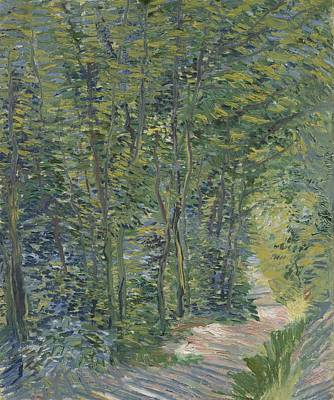 Painting - Path In The Woods Paris, May 1887 - July 1887 Vincent Van Gogh 1853  1890 by Artistic Panda