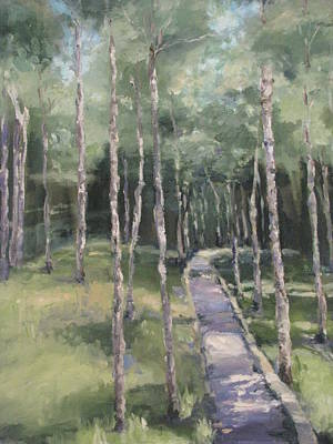 Painting - Path Into The Woods by Sharon Franke