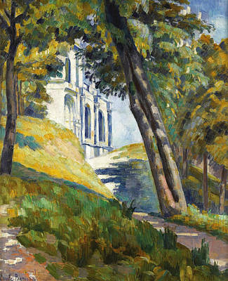 Path Leading To The Church Of Saint-pierre At Tonnerre Art Print