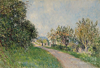 Nineteenth Century Painting - Path Near Sevres by Alfred Sisley