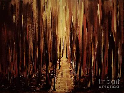 Painting - Path Of Gold by Crystal Schaan