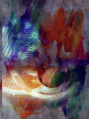Science Fiction Mixed Media - Path Of The Planet by Lenore Senior