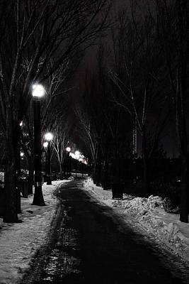 Photograph - Path On A Winters Night by Desmond Raymond