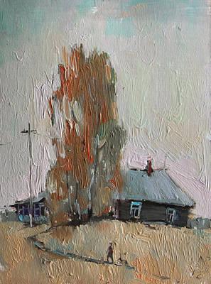 Village Painting - Path. Summer Sketch by Sergey Avdeev