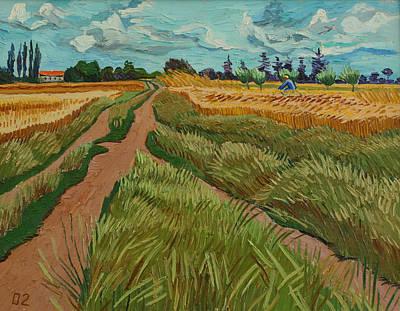 Path Through A Wheat Fields Art Print by Vitali Komarov