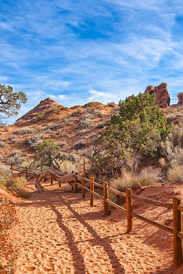 Photograph - Path Through Devil's Garden by John M Bailey