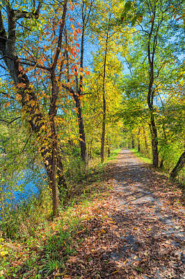 Photograph - Path Through Fall by John M Bailey