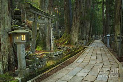 Path Through Koyasan Okunoin Cemetery, Japan Art Print