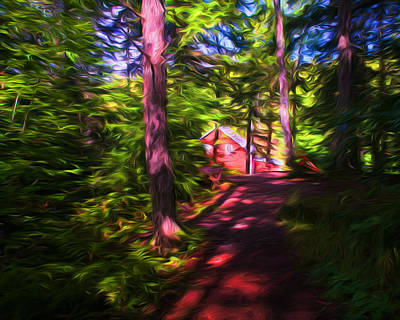 Photograph - Path To Balmoral Grist Mill Museum by Ginger Wakem