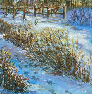 Painting - Path To Ceils Vineyard by Denise Ivey Telep